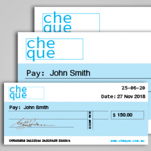 Oversized Cheques