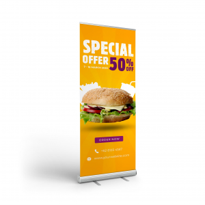 Pull Up Banner with Retractor Bases