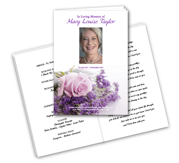 8 Page Funeral Order Of Service Brochures  Order Of Service Template Free