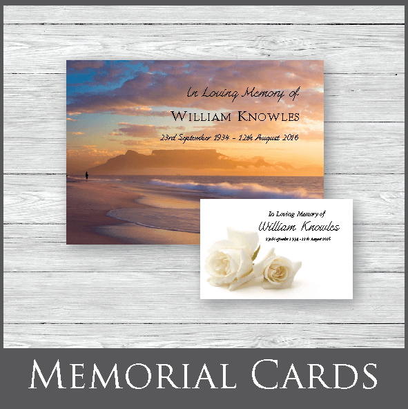 Quality funeral printing next day delivery forget me not funeral memorial cards solutioingenieria Images