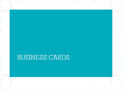 Artwork file for embossed business cards