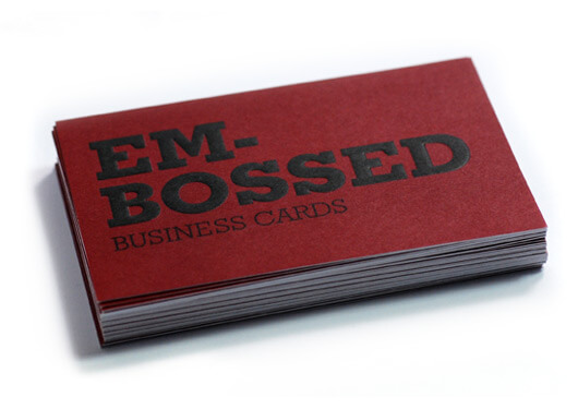 Embossing printinglounge printinglounge embossed business card reheart Image collections