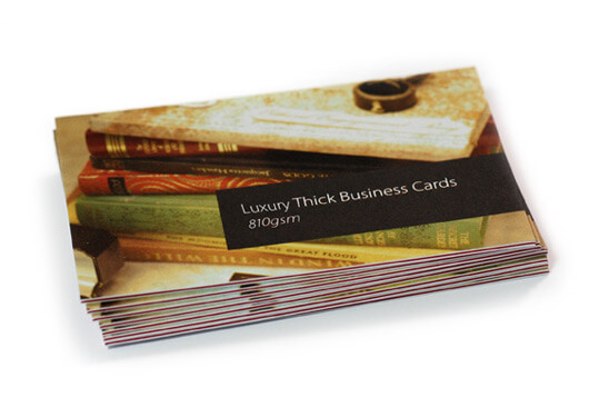 Luxury thick business card