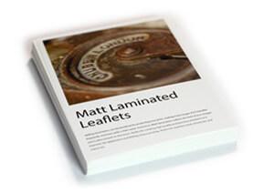 Matt laminated flat leaflets