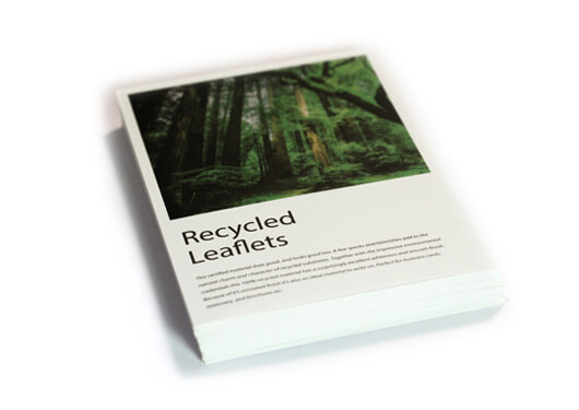 Recycled leaflets