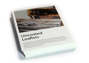 Uncoated flat leaflets