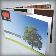 Vierkante brochures