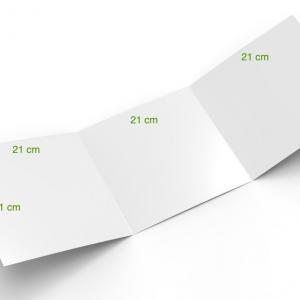 3 volets 21 x 21 cm fermé - 6 pages