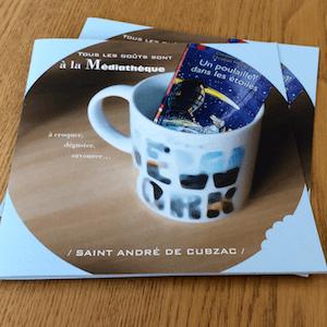 Brochure carrée piqûre 2 points métal
