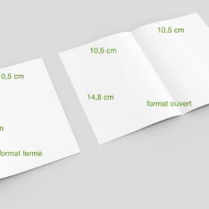 2 volets 10,5 x 14,8 cm fermé – 4 pages