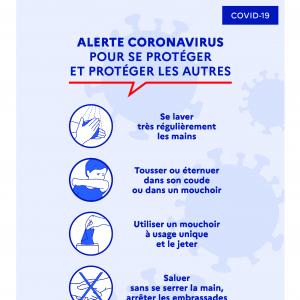 COVID-19 : Affiche  pré imprimé