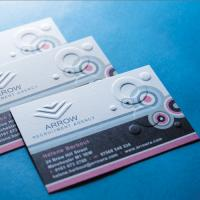 350gsm Embossed Business Cards