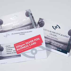 350gsm Foil Business Cards