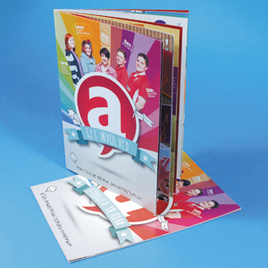 130 grams Glossy A4 Brochures - Staand