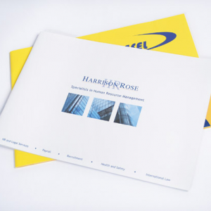 A4 Landscape Booklets : 100gsm Uncoated
