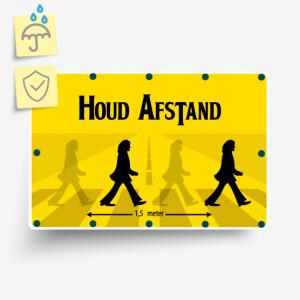 Corona informatiebordjes plastic standaard