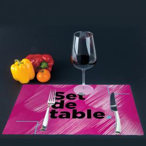 Set de table recyclé