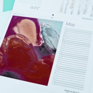 Digital 14 Month Calendars : 100gsm Silk