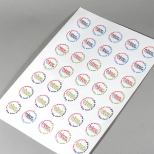 Planche de stickers papier