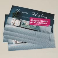 Postcards: Gloss Laminated front, Natural back