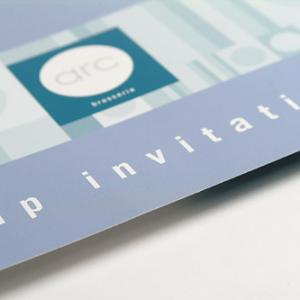 Ongestreken kartonnen Uitnodigingen