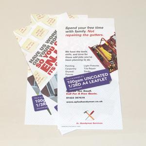 100gsm Uncoated Leaflets