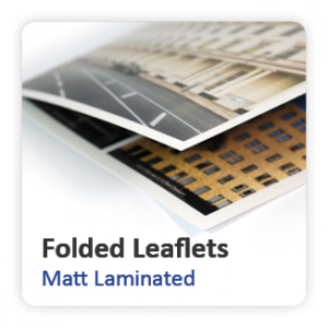 Matt Laminated Folded Leaflets
