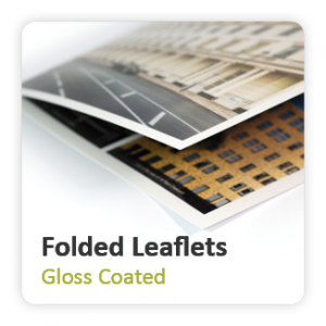 Gloss Coated Folded Leaflets