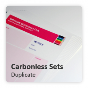 Carbonless Forms - Duplicate
