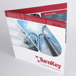 Flyers: Gloss Laminated front | Shaped or creased