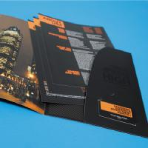 400gsm M/Lam + Spot UV Peel & Stick Folders