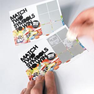 300gsm Scratch Cards