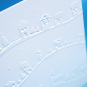 300gsm Embossed Uncoated Flyers Creased or Shaped