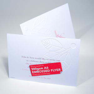 350gsm Embossed Uncoated Flyers