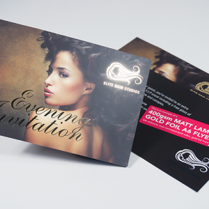 400gsm Foiled Matt Lam Flyers