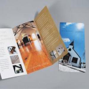 UKM Luxury 300gsm Silk Folded Leaflet