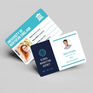 Carte d'identité avec photo en plastique