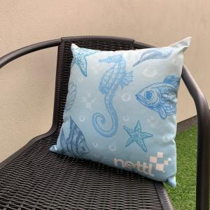 Smooth Linen Cushion 40x40cm