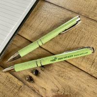 Wheat Straw Click Ballpoint Pens