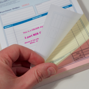 Full Colour 3 Part Carbonless NCR Pads