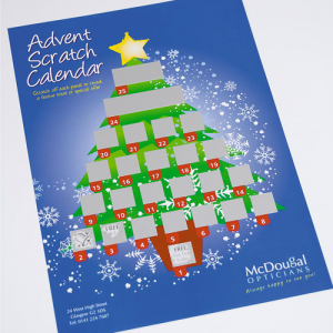 300gsm Advent Scratch Calendar