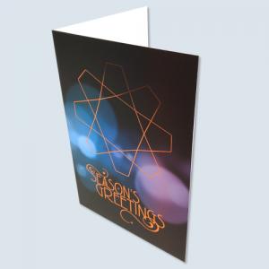 400gsm Matt Lam Foiled Christmas Cards
