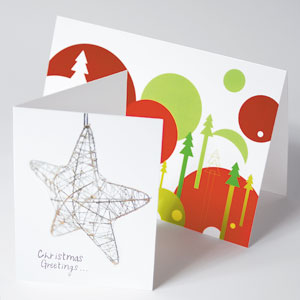 400gsm Silk Christmas Cards