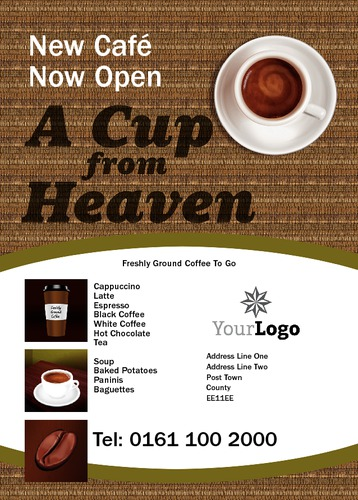Tips for starting a coffee shop – Top Newsletter Template |New Coffee Shop Flyer