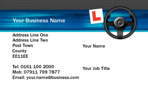 Online print templates printing uk driving instructors business card wajeb Image collections