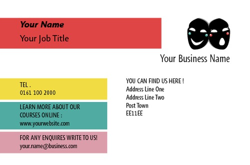 Acting class business card by c v sane design acting class business card reheart Choice Image