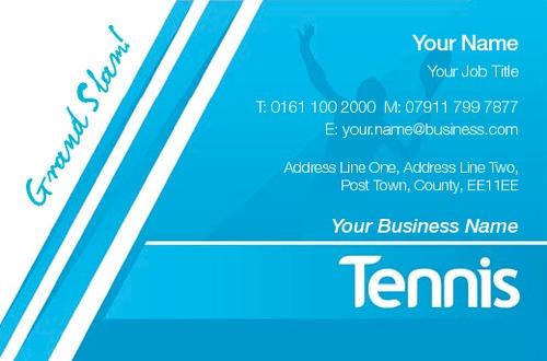 Tennis business card by printing edinburgh sane design tennis business card colourmoves