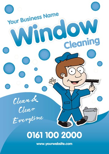 Window Cleaning A5 Flyers By Edward Augusto Sane Design