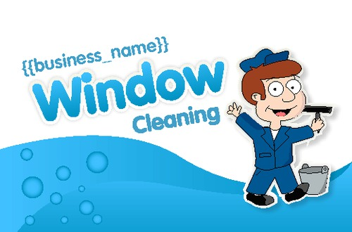 Online print templates printing ie window cleaning business card accmission Images