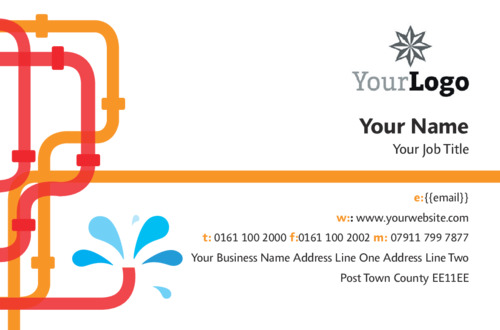 Online print templates printing plumbers business card colourmoves
